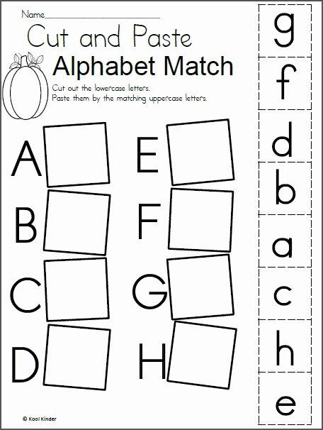 Alphabet Matching Worksheets for Preschoolers Unique Homework for Kindergarten Worksheets Alphabet In 2020