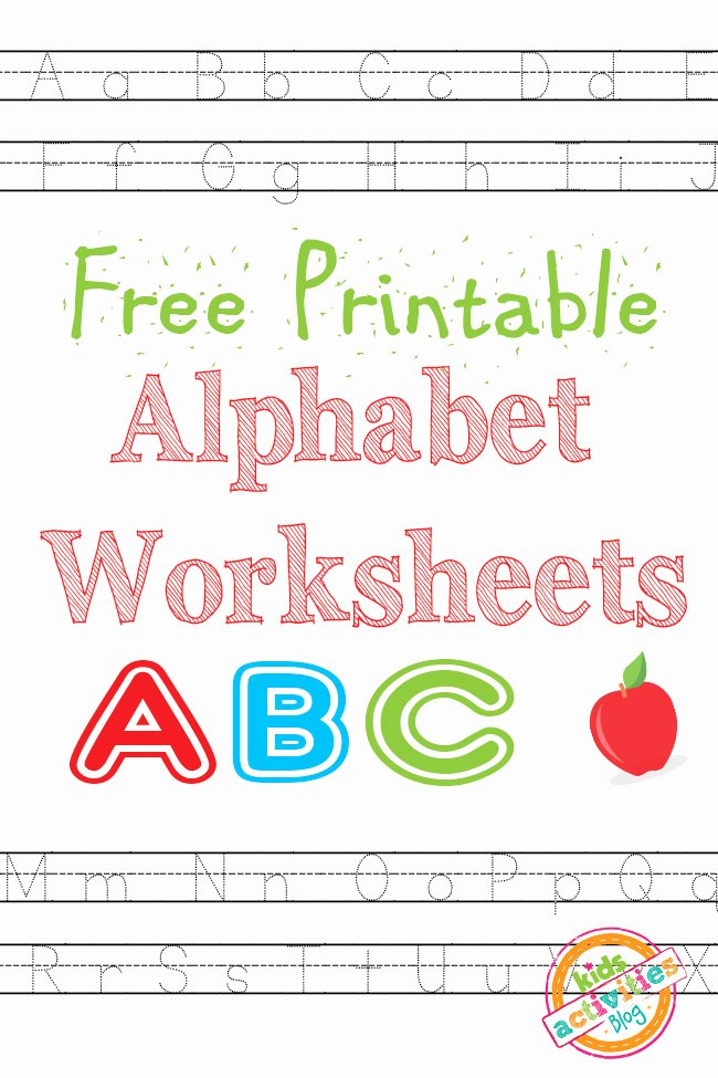 Alphabet Printable Worksheets for Preschoolers top Alphabet Worksheets Free Kids Printable
