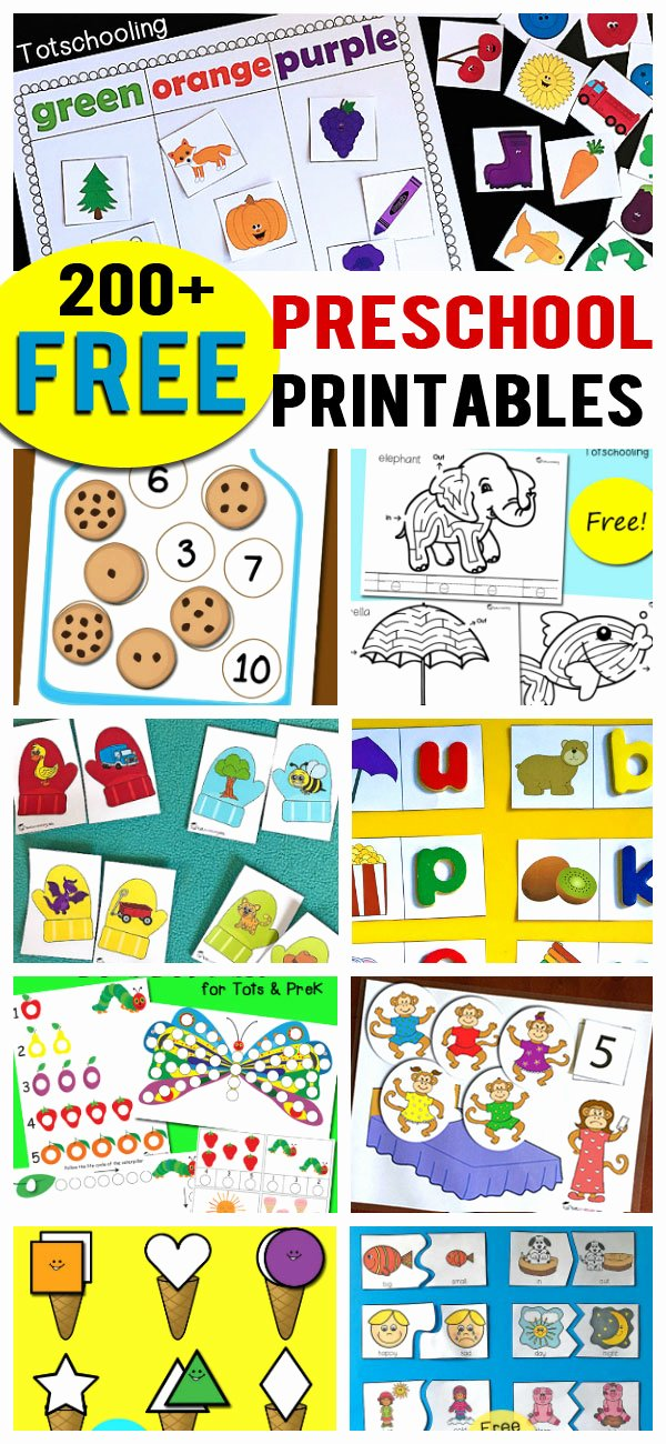 Alphabet Worksheets for Preschoolers Printable New 200 Free Preschool Printables & Worksheets