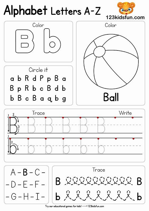 Alphabet Worksheets for Preschoolers Printable New Free Alphabet Practice A Z Letter Worksheets