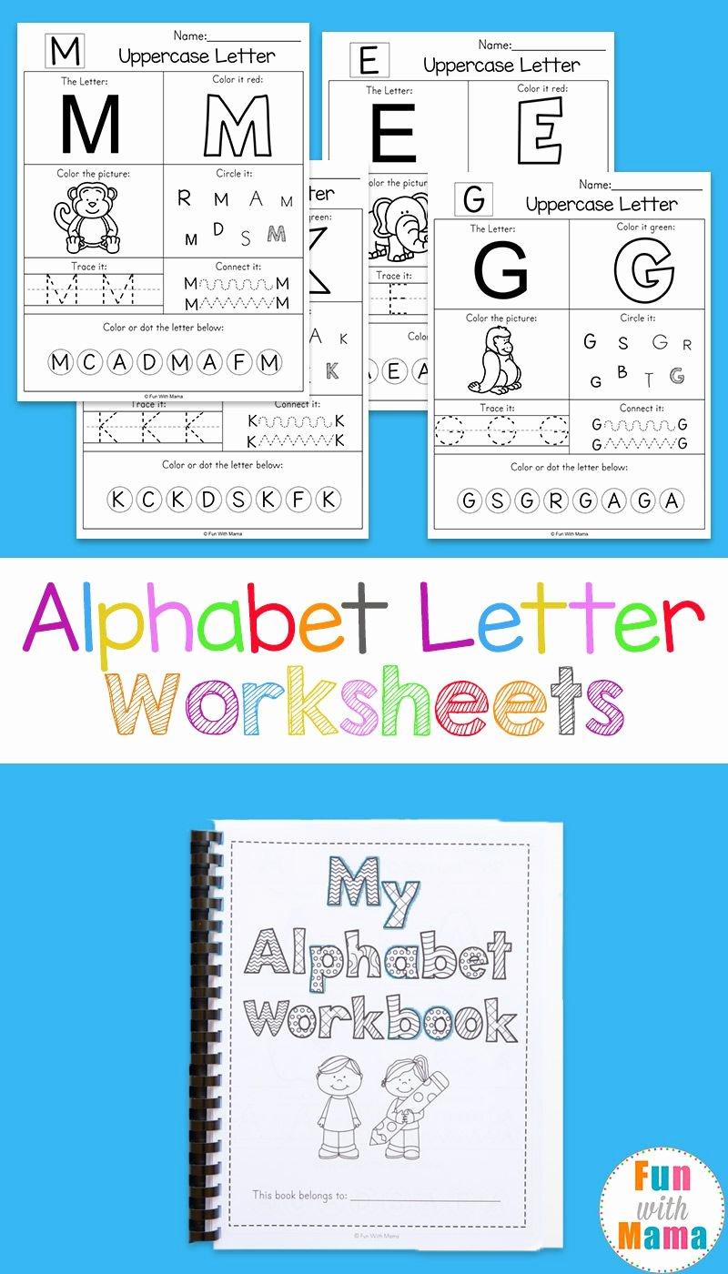 Alphabet Worksheets for Preschoolers Printable Unique Printable Alphabet Worksheets to Turn Into A Workbook