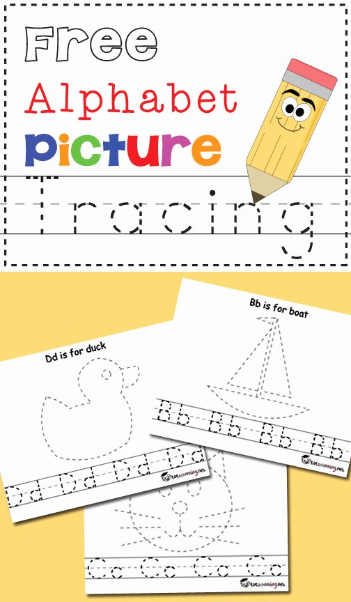 Alphabet Worksheets for Preschoolers Tracing Fresh Free Alphabet & Picture Tracing Printables