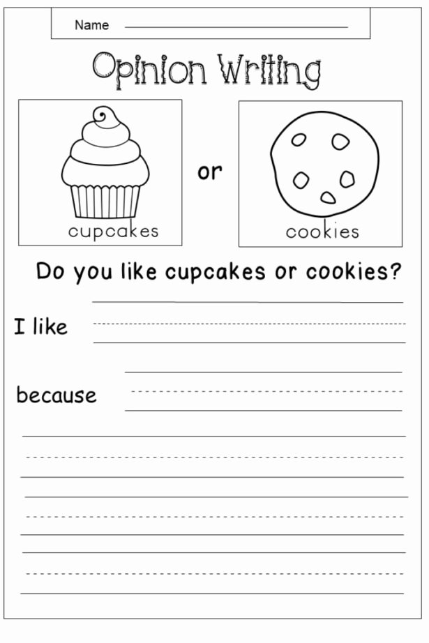 Alphabet Writing Worksheets for Preschoolers Inspirational Free Opinion Writing Printable Kindergarten Prompts