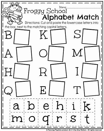 Alphabets Worksheets for Preschoolers New Back to School Kindergarten Worksheets Planning Playtime
