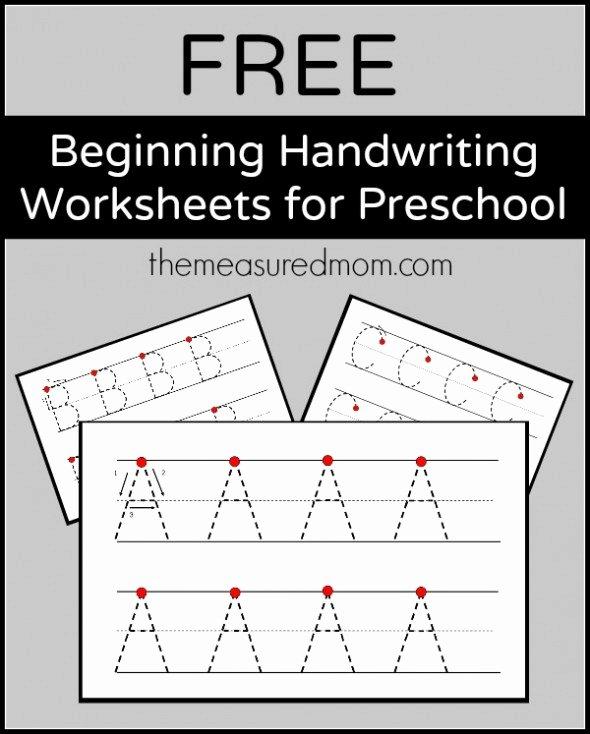 Alphabets Worksheets for Preschoolers top Level 2 Handwriting Worksheets Uppercase the Measured Mom