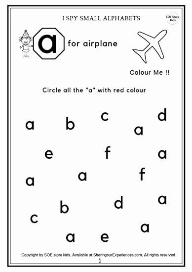 Alphabets Worksheets for Preschoolers Unique soe Store Kids Preschool Alphabets Activity Worksheets