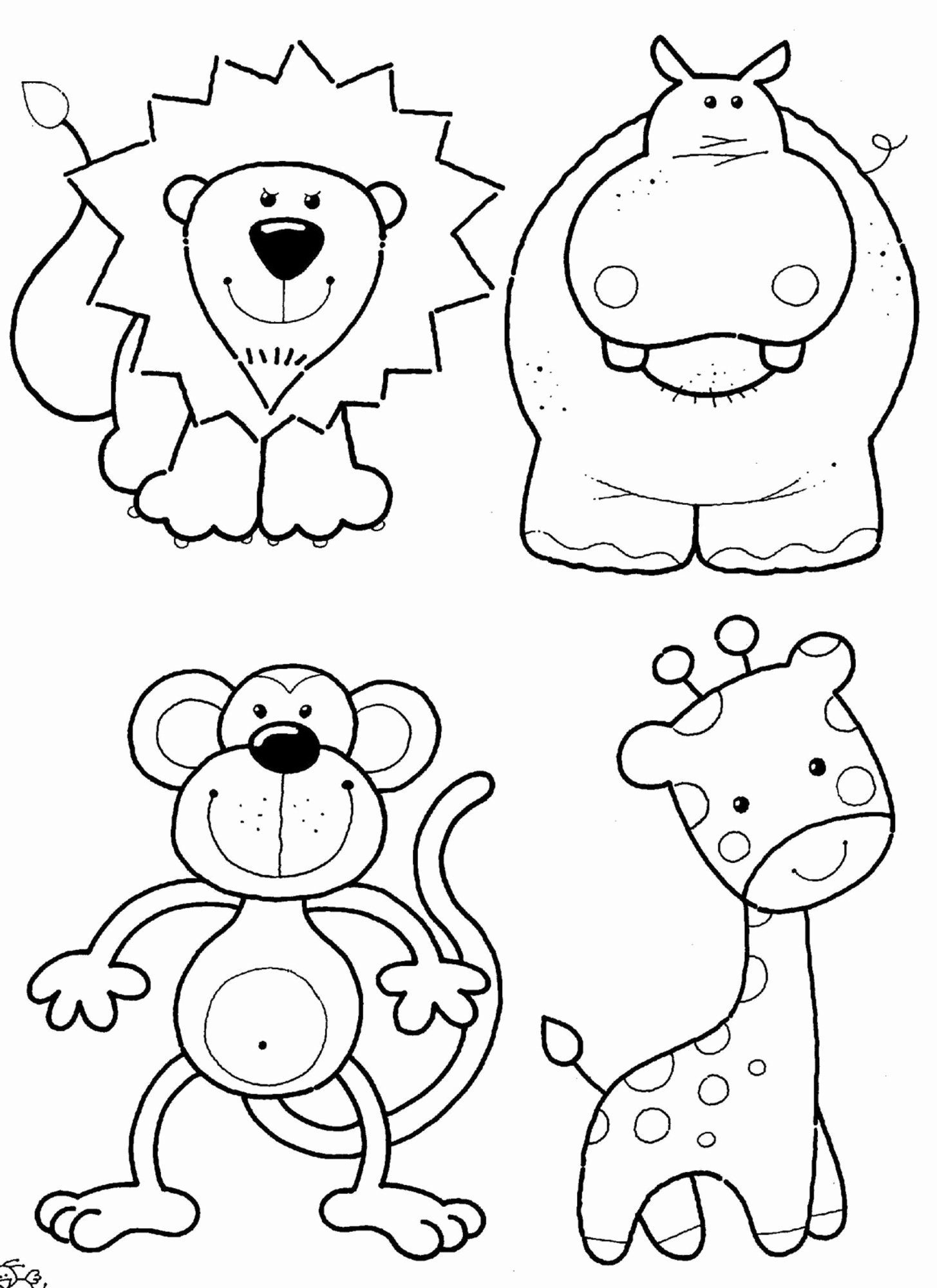 Animal Worksheets for Preschoolers Lovely Coloring Book Cute Animals Zoo Fabulous for themed Math