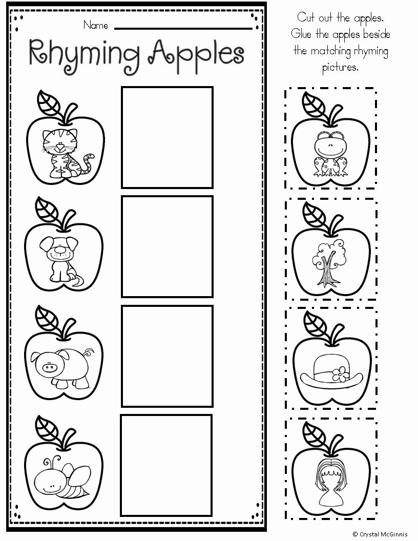 Apple Worksheets for Preschoolers Best Of Apple themed Math and Literacy Printables for Young Learners