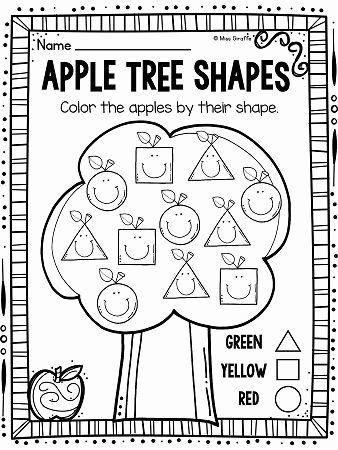 Apple Worksheets for Preschoolers Inspirational Apples theme 2d Shapes Activities for Your Apples Unit