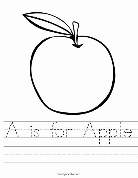 Apple Worksheets for Preschoolers Inspirational is for Apple Worksheet From Twistynoodle Lessons Preschool