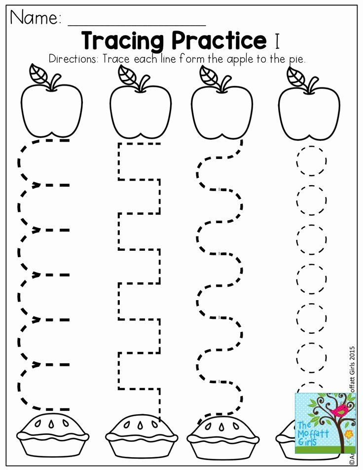 Apple Worksheets for Preschoolers New Back to School Packets