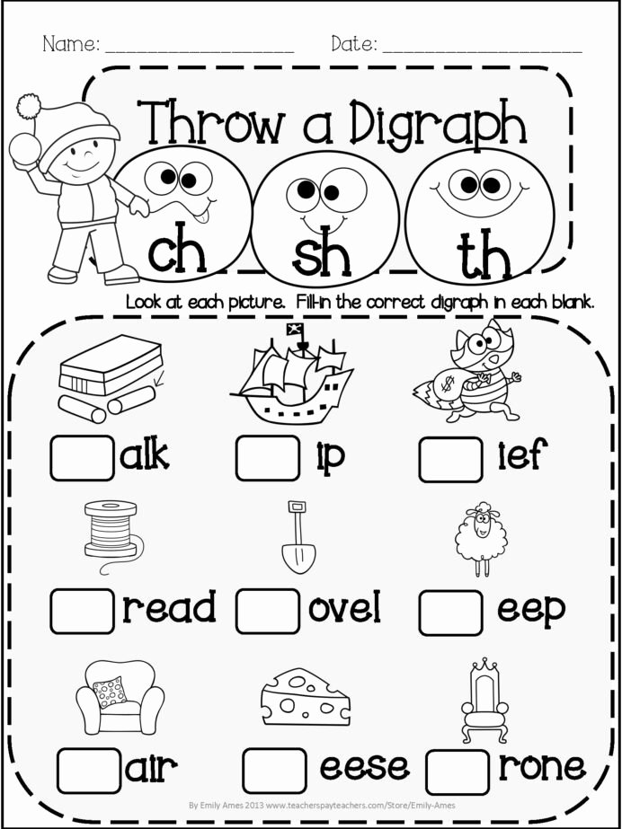 Art Worksheets for Preschoolers Fresh Winter Literacy Fun Short Vowels Digraphs and Blends Grade