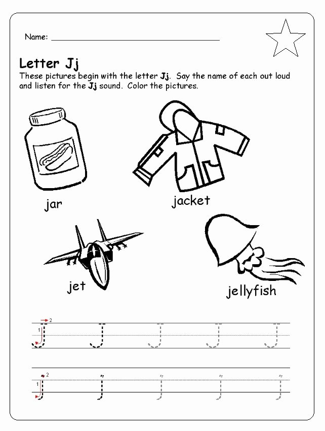 Association Worksheets for Preschoolers New Letter J Worksheets Preschool