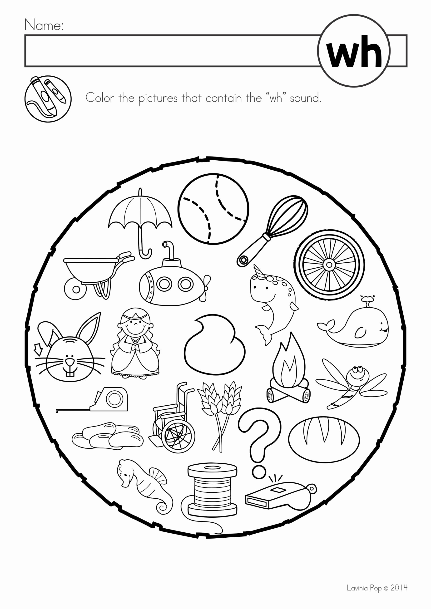 Association Worksheets for Preschoolers top Free Digraph Wh Phonics Word Work Multiple Phonograms