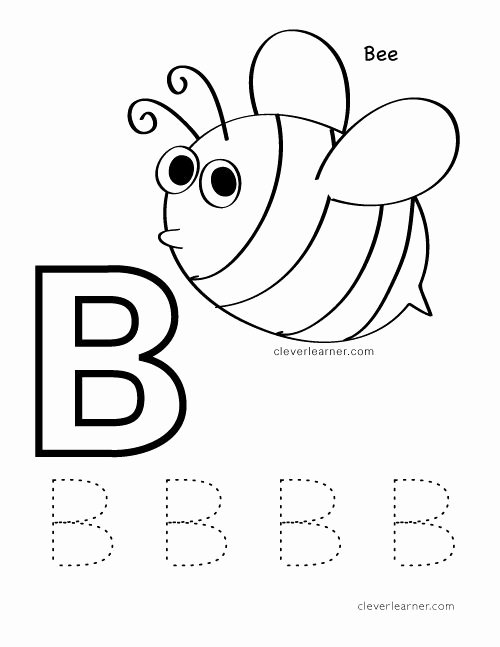 B Worksheets for Preschoolers Inspirational B is for Bee Letter Practice Worksheet for Preschool