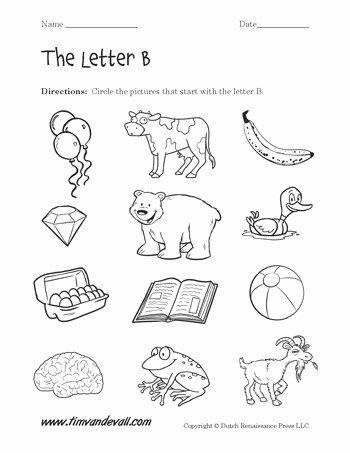 B Worksheets for Preschoolers Inspirational Letter B Worksheets