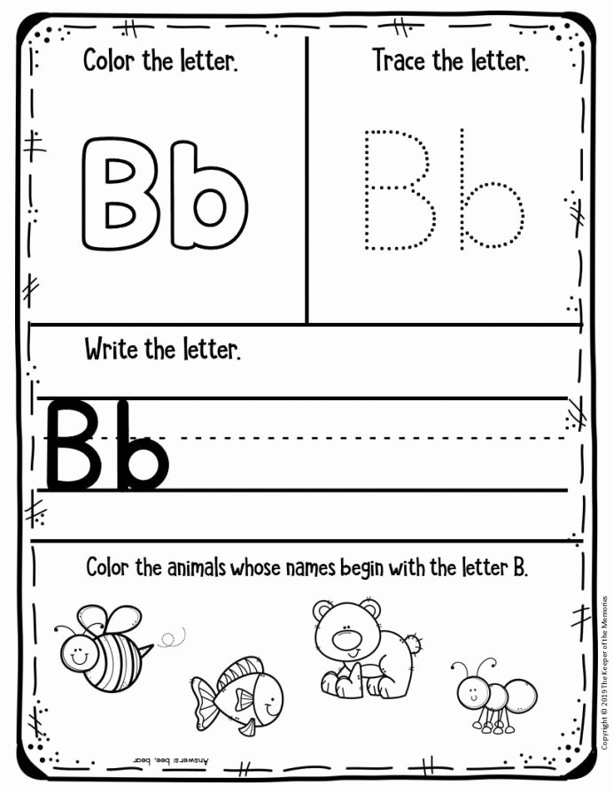 B Worksheets for Preschoolers Inspirational Worksheet Free Lined Writing Pages Alphabet fors