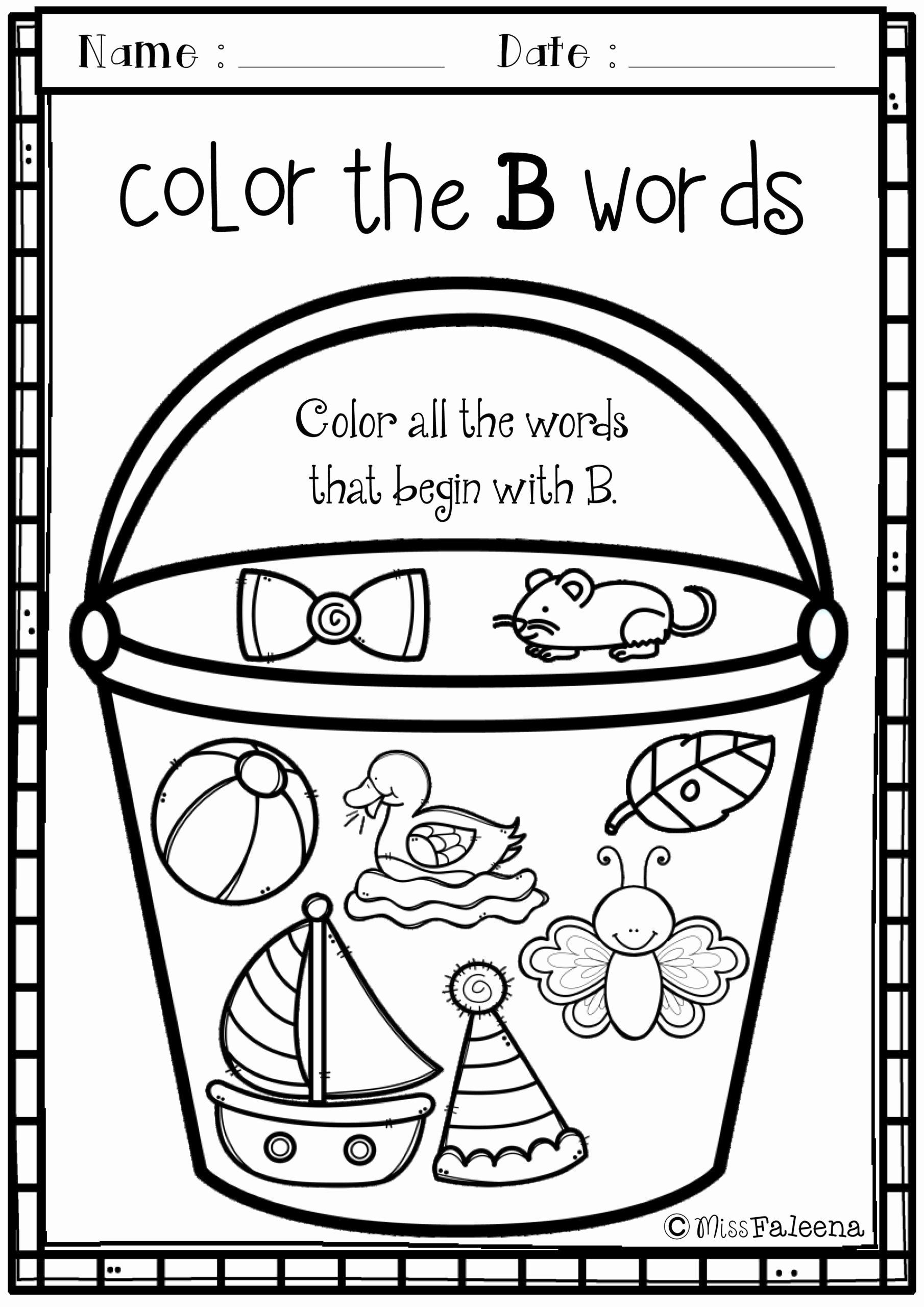 B Worksheets for Preschoolers Inspirational Worksheets Letter the Week is Designed to Help Teach