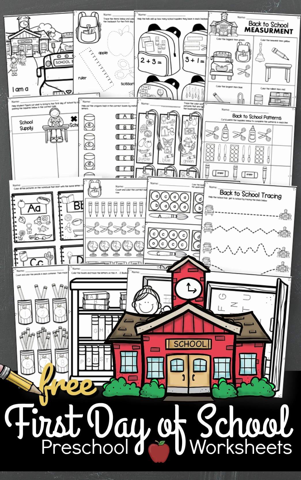 Back to School Worksheets for Preschoolers Best Of Free Back to School Worksheets