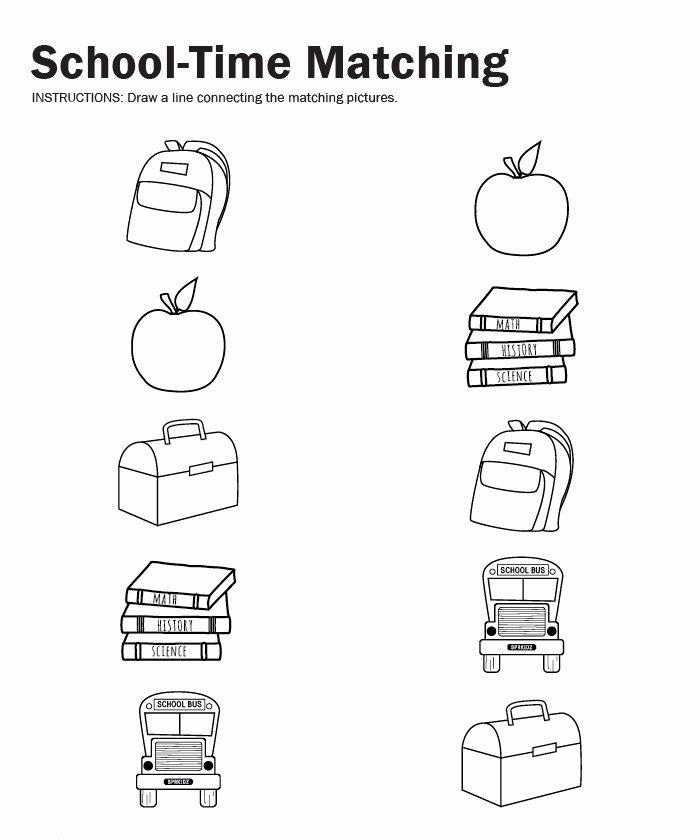 Back to School Worksheets for Preschoolers Fresh Back to School Worksheet for Kids