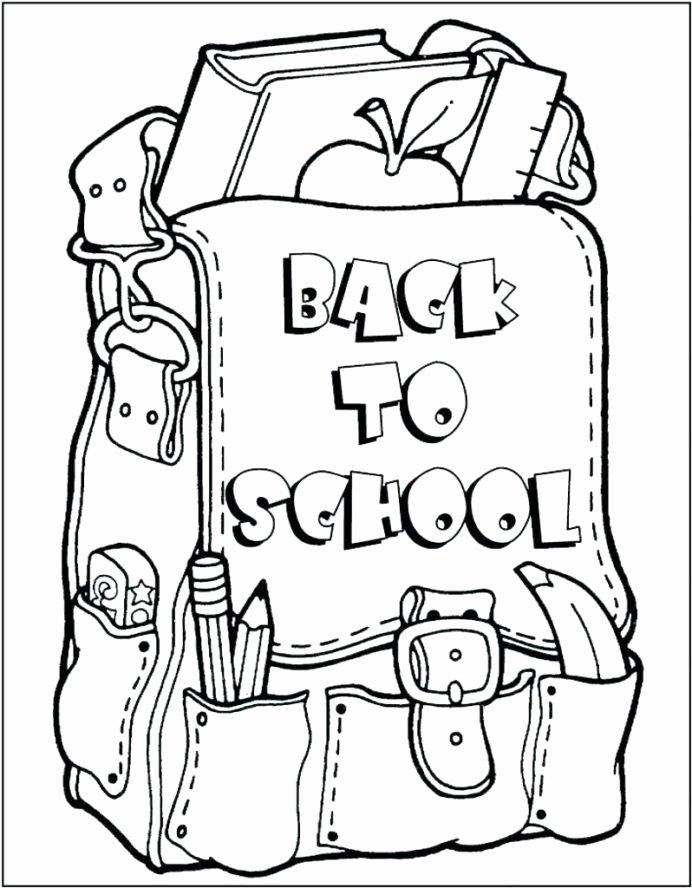 Back to School Worksheets for Preschoolers Inspirational Coloring First School for Kindergarten Preschool Back to