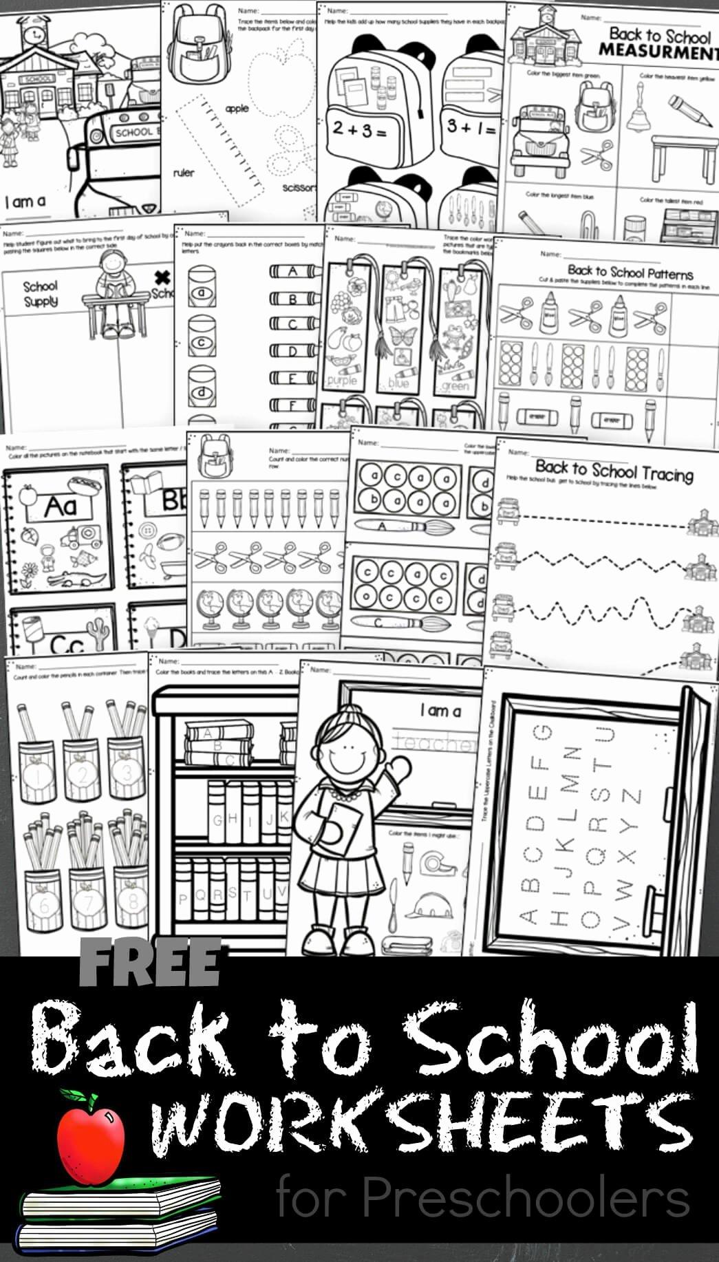 Back to School Worksheets for Preschoolers top Free Back to School Worksheets