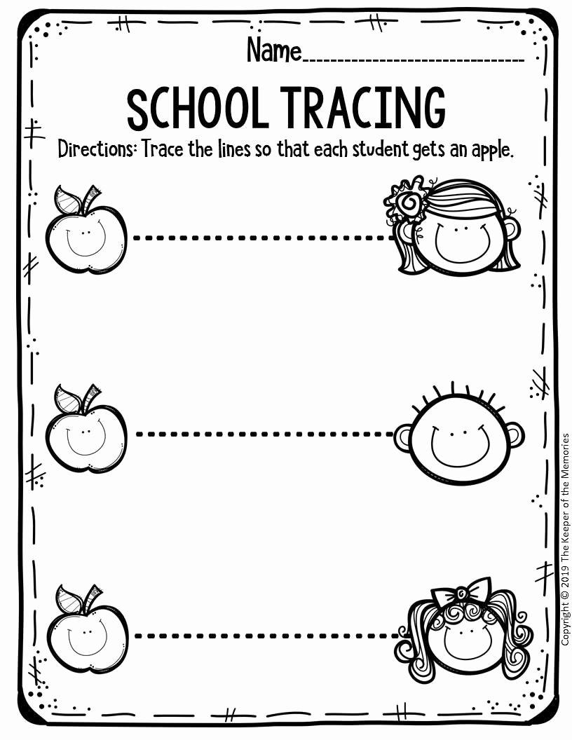 Back to School Worksheets for Preschoolers top Free Printable Worksheets for Preschool & Kindergarten