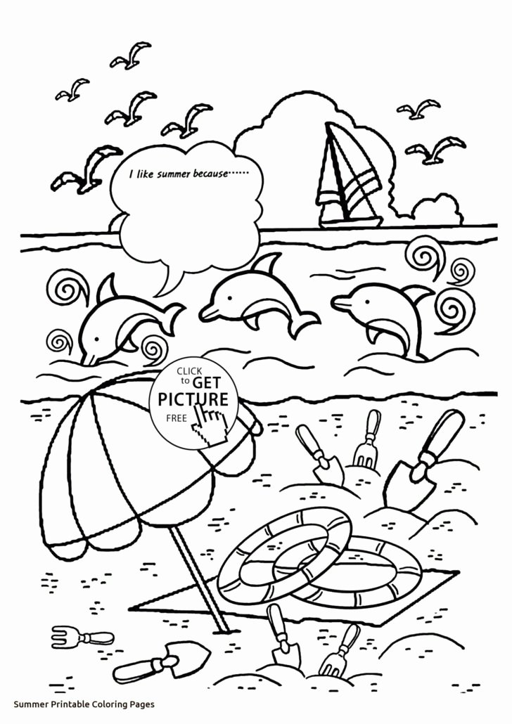 Beach Worksheets for Preschoolers Inspirational Printable Summer Coloring for Kids Beach Worksheets Fabulous