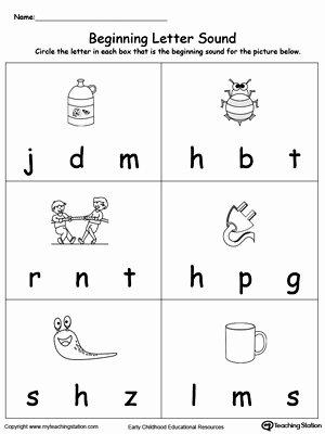 Beginning sounds Worksheets for Preschoolers Beautiful 30 Beginning sounds Worksheets for Little Es