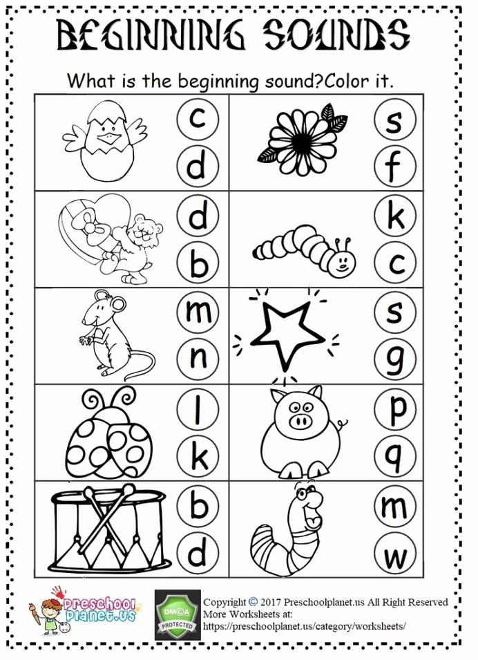 Beginning sounds Worksheets for Preschoolers Inspirational Beginning sound Worksheet Flickr Preschool sounds Worksheets