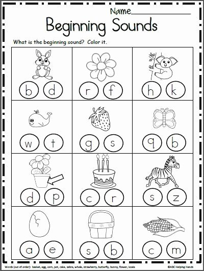 Beginning sounds Worksheets for Preschoolers Lovely Free Beginning sounds Worksheets Look at Each Each Picture