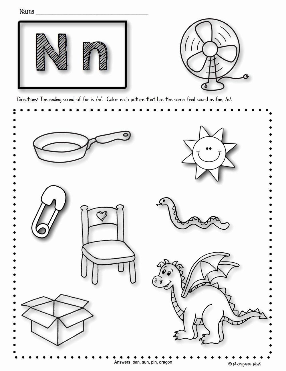 Beginning sounds Worksheets for Preschoolers Lovely Worksheet Remarkablen Phonics Worksheets End2 Lessons