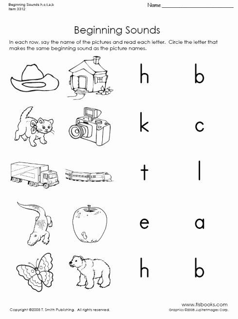 Beginning sounds Worksheets for Preschoolers top Beginning sounds and Phonic Letter Worksheets
