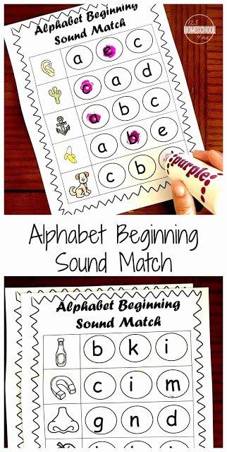 Beginning sounds Worksheets for Preschoolers top Free Beginning sounds Worksheets
