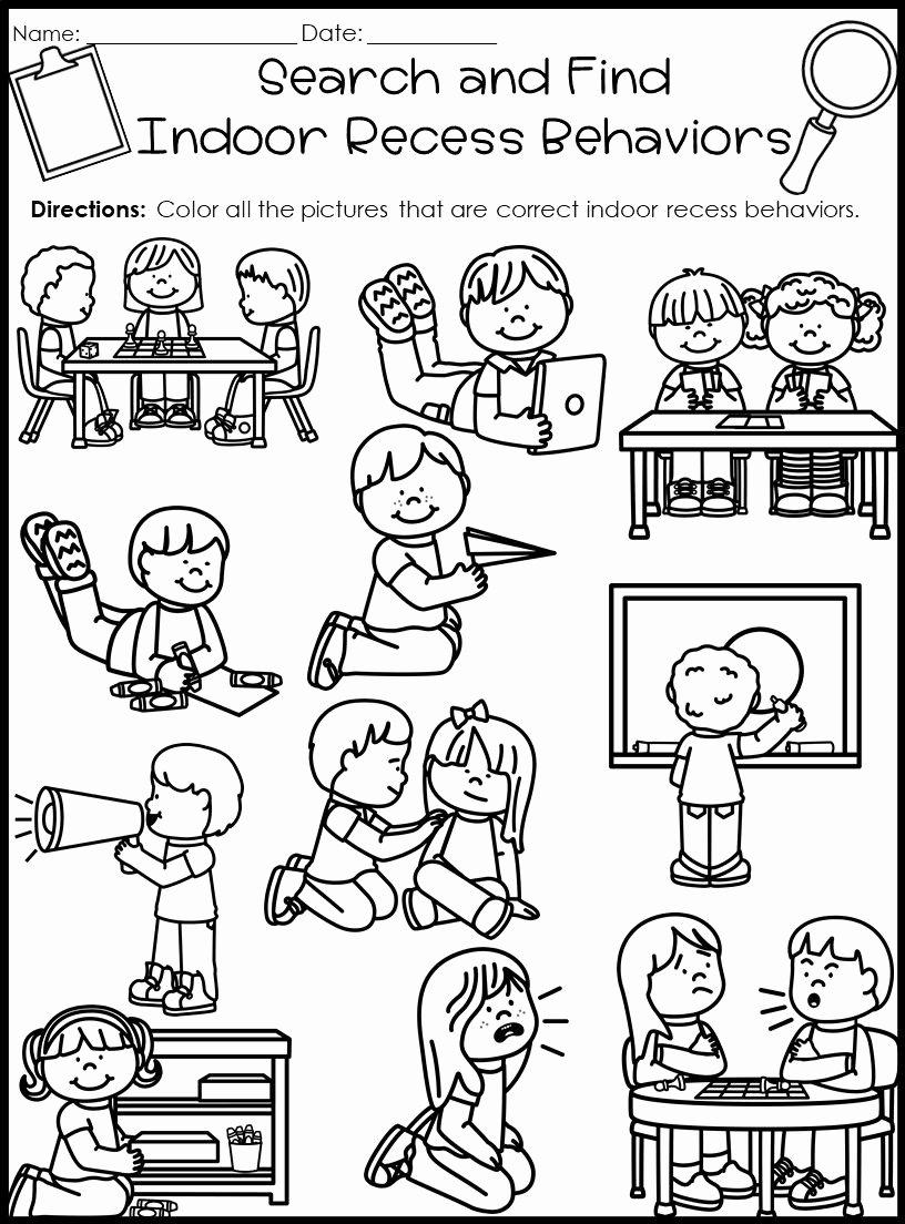 Behavior Worksheets for Preschoolers Best Of Behavior Search and Find Activities Back to School