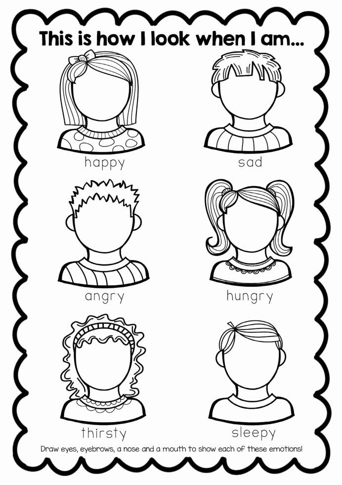 Behavior Worksheets for Preschoolers Fresh Free Feelings Worksheet Teaching Emotions Activities
