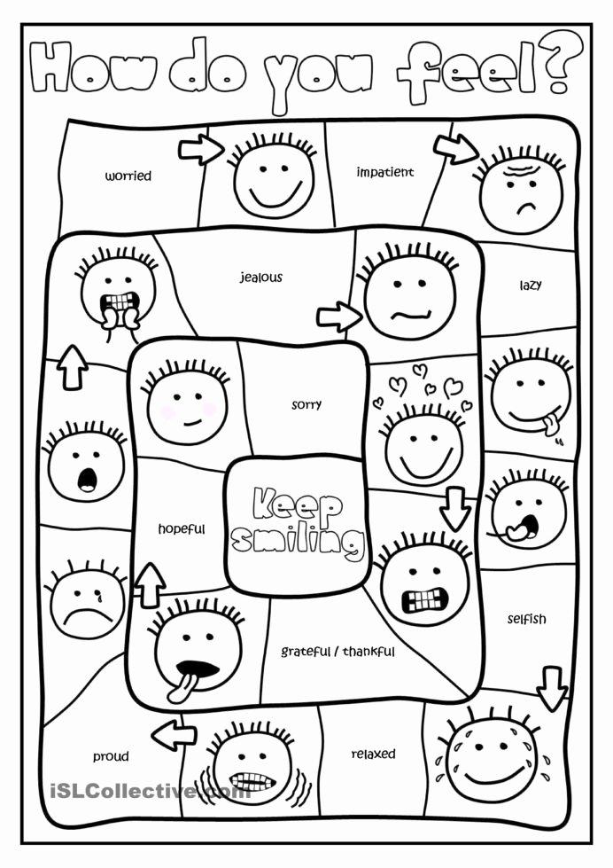 Behavior Worksheets for Preschoolers Inspirational Do You Feel Board Game Feelings Activities School social