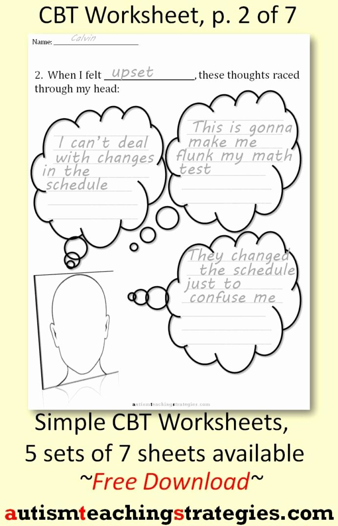 Behavior Worksheets for Preschoolers Lovely Cognitive Behavioral therapy Teaching Materials for Children