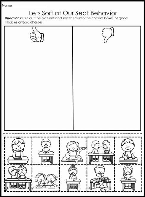 Behavior Worksheets for Preschoolers top 12 Kindergarten Behavior Worksheet