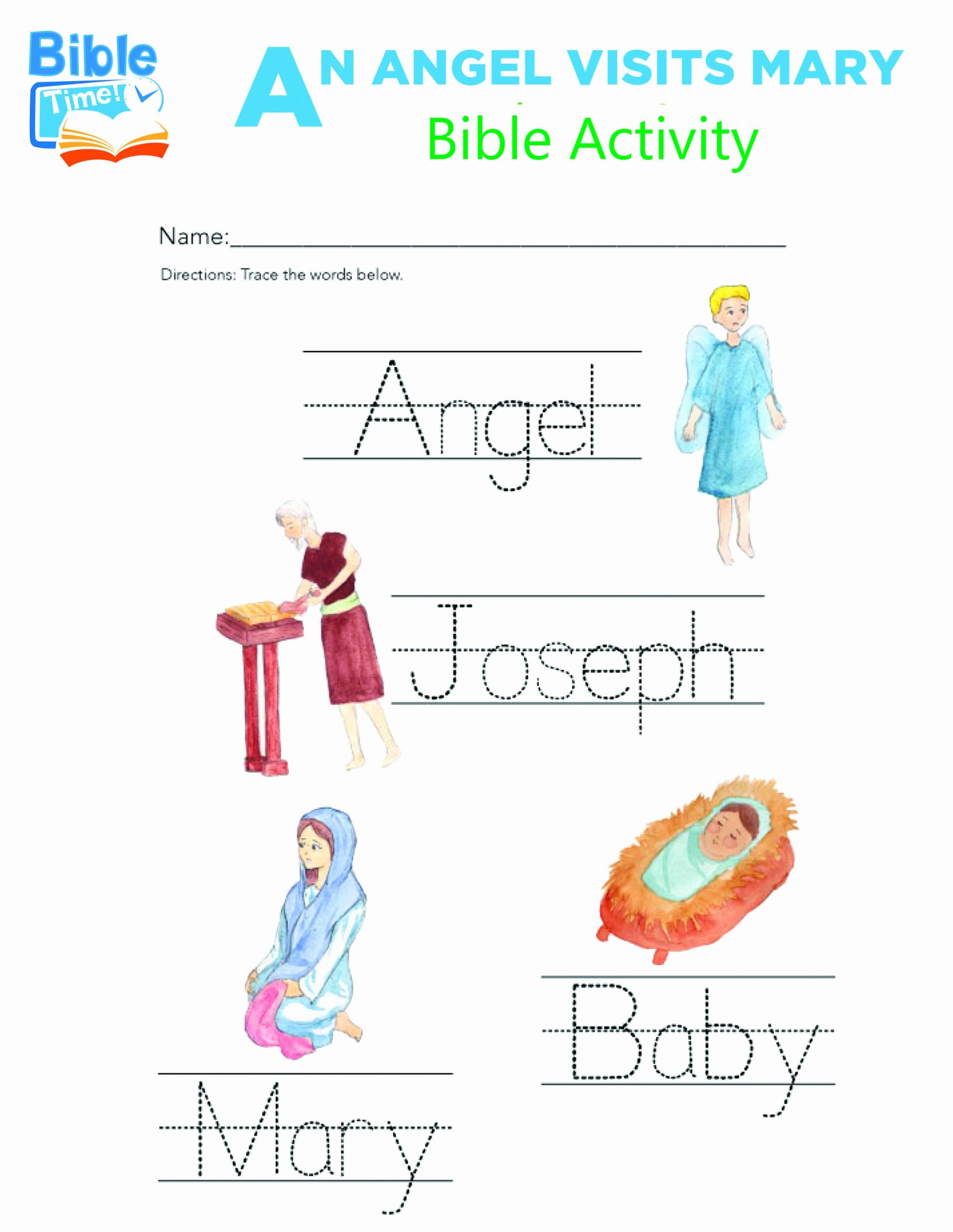 Bible Story Worksheets for Preschoolers Unique Free Preschool Bible Activities