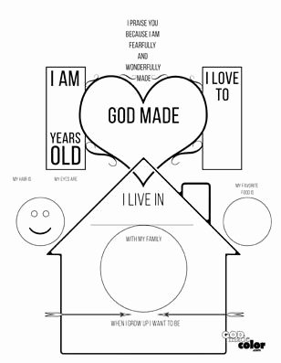 Bible Worksheets for Preschoolers Fresh All About Me God Made Me Printable This Worksheet Lets the