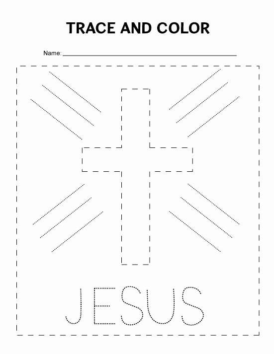Bible Worksheets for Preschoolers Inspirational Tracing Worksheet for Preschoolers Great for Sunday School