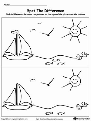 Boat Worksheets for Preschoolers Awesome Spot the Difference In the Scenary