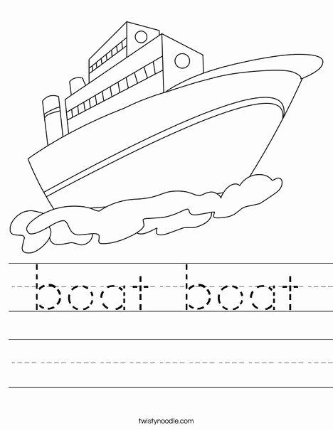 Boat Worksheets for Preschoolers Inspirational Boat Boat Worksheet