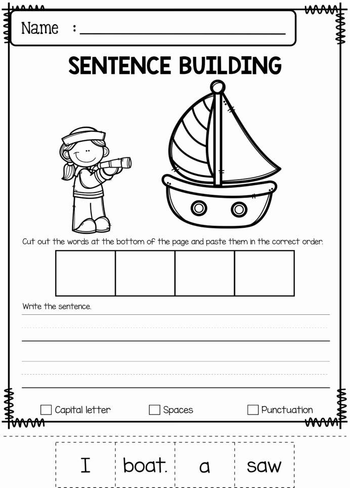 Boat Worksheets for Preschoolers top June Sentence Building Has Worksheets Teaching Math Word
