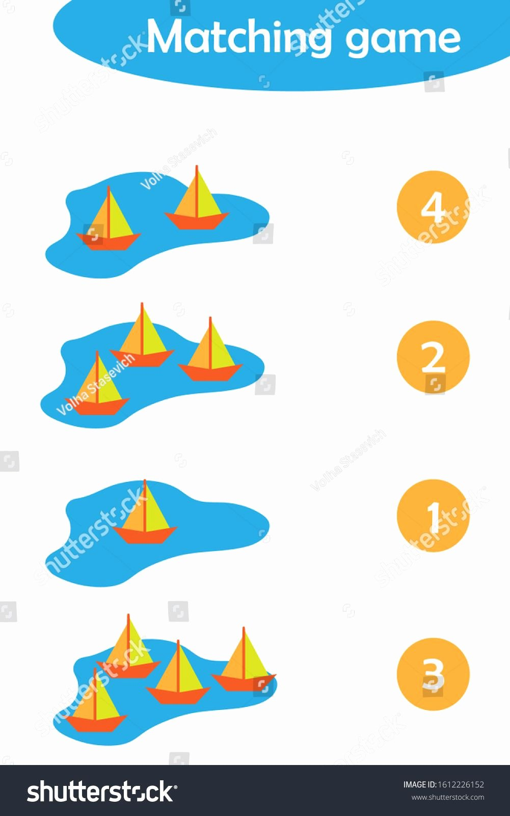 Boat Worksheets for Preschoolers top Maths Game with Paper Boats In A Puddle for Children Easy