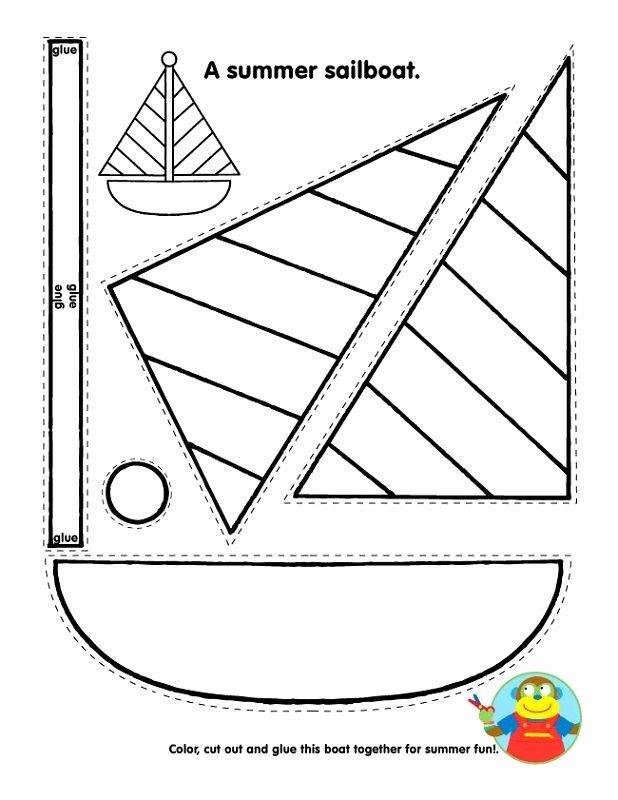 Boat Worksheets for Preschoolers top Printable Summer Sailboat Crafts for Kids