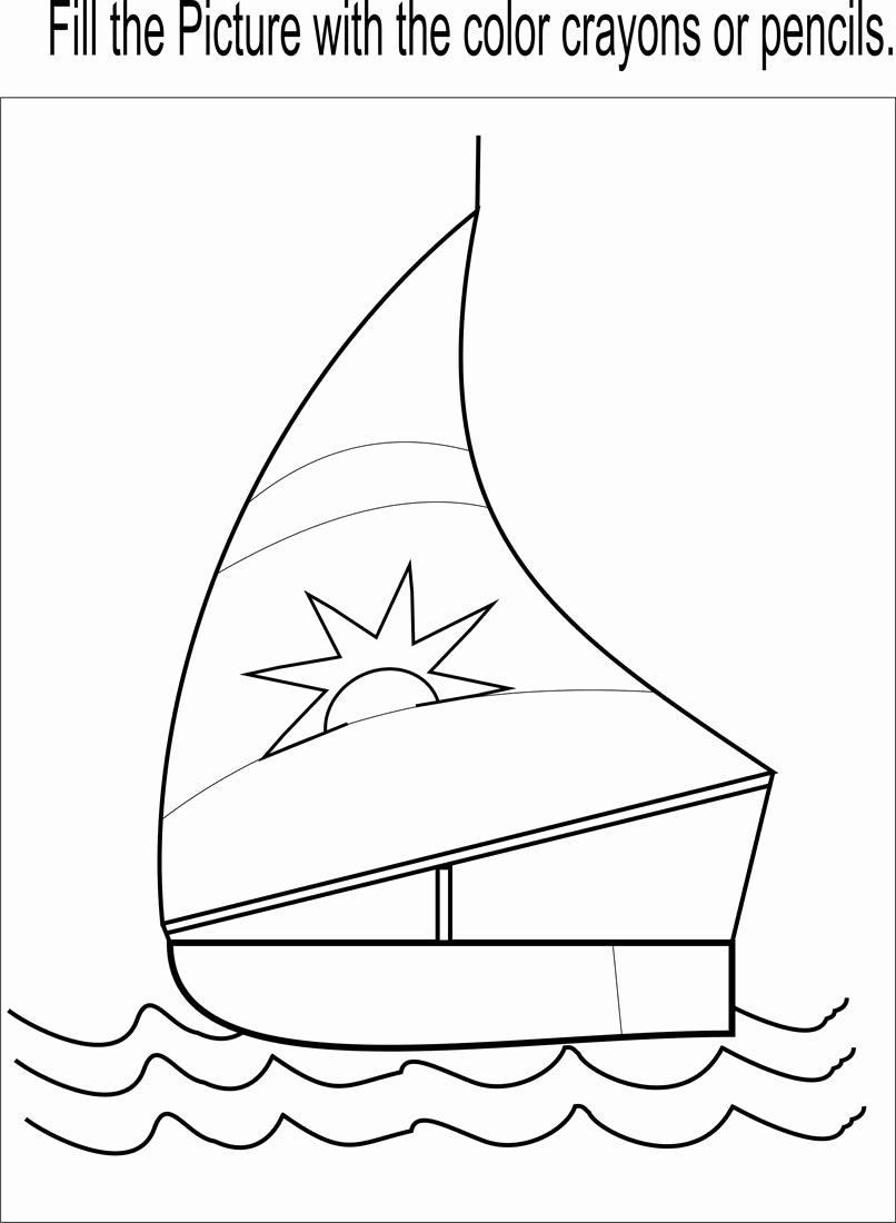 Boat Worksheets for Preschoolers Unique Little Boat Coloring Page Printable for Kids