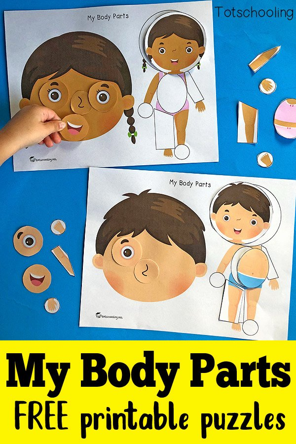 Body Parts Worksheets for Preschoolers Beautiful My Body Parts Printable Puzzles