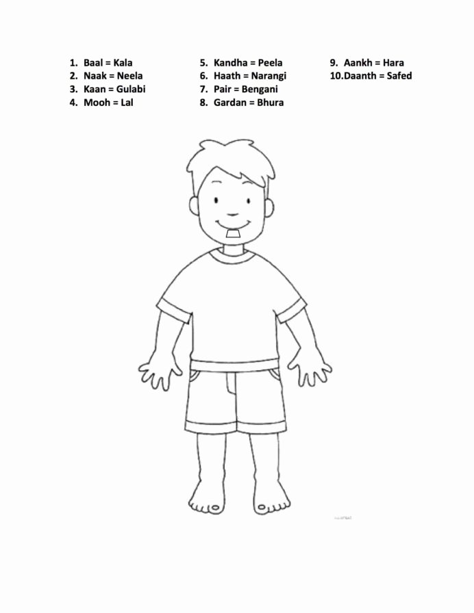 Body Parts Worksheets for Preschoolers Lovely Pin Hindi Worksheets Printable Body Parts for